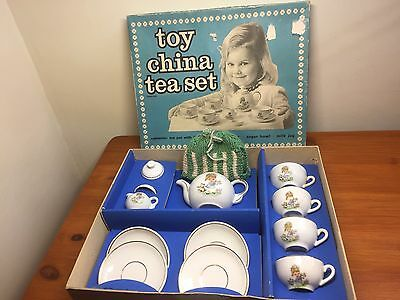 VINTAGE RETRO 1950s BOXED CHILDS TOY CHINA TEA SET MADE IN GERMANY
