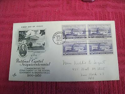 FDC,US,National Capital Sesquicentennial,1800-1950,Wash.DC.,Aug 2,1950