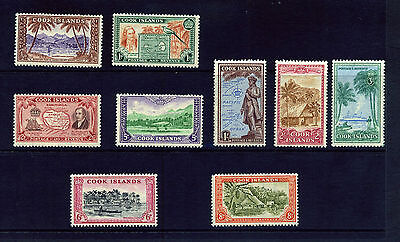 COOK ISLANDS 1949 LOCAL PICTORIAL SET TO 3/- SG150-159 MOUNTED MINT: See Scan