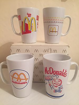 MCDONALDS 4 x VINTAGE PICTURE COFFEE MUG CUP By Group II Communications, Inc