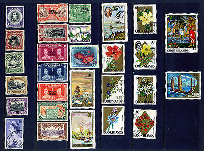 Cook Islands Collection Of 28 Stamps From 1933 Mint & Used