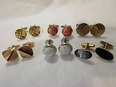 job lot / 6 pairs of cufflinks some may be vintage??