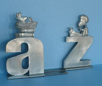 Seagull Pewter Snoopy and Woodstock Bookends Peanuts United Feature Syndicate