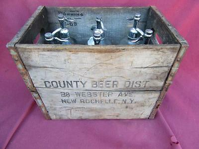 6 Slot  Seltzer  Qt Beer Bottle   Woodcase County New Rochelle Ny Man Cave