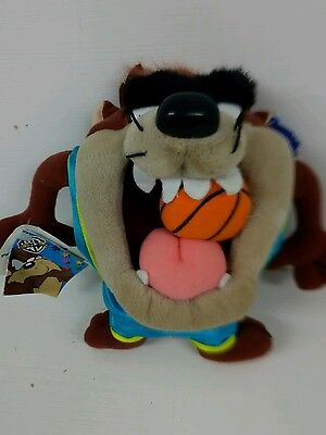 Tazmanian Devil Soft Toy Dressed As A Basketball Player