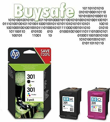 New HP Original 301 Combo pack - Black and colour ink