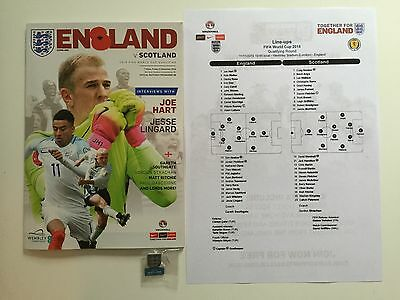 2016 Fifa World Cup Qualifier Wembley England V Scotland Football Programme