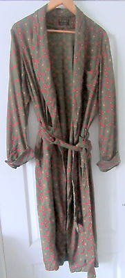 "Vintage Mens 40"" Chest Tootal Dressing Gown Green / Wine Paisley Design"