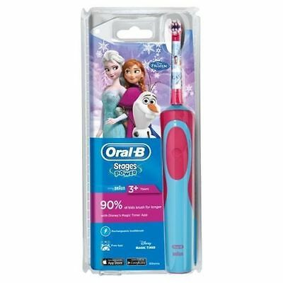 Oral-B Disney Frozen Girls Electric Toothbrush Stages Power Kids with Toothpaste