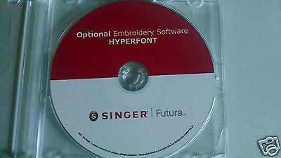 Singer Futura Hyperfont Software for the CE 150 or CE 250, 350, SES 1000 / 2000