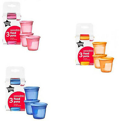 Tommee Tippee essential Food Pots - DOUBLE PACK !! (6 Pots in Total)