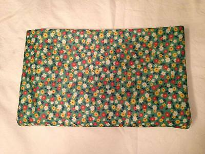2 Yards of Green Mini Floral Patterned Light Polyester Smooth Fabric Material
