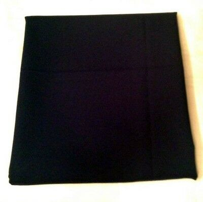 "3 Yards x 60"" of Navy Blue Modacrylic Heavy Solid Fabric Material"
