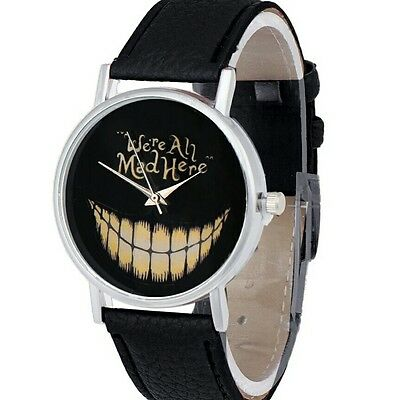 We Are All Mad Here Evil Smile Black Watch.