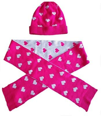 Kids GAP Girls Fine Knit NEON MAGENTA PINK Fleece Lined Beanie Hat 6-9 S/M £12.9
