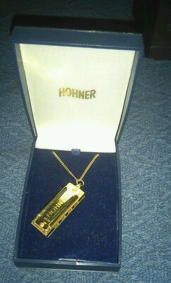Hohner Little Lady Playable Harmonica Necklace With Display Box