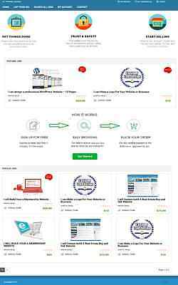 RESPONSIVE MICROJOBS WEBSITE BUSINESS FOR SALE! ESTABLISHED with ACTIVE LISTING
