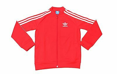 Adidas Kids Original Superstar Track Top Jacket Red/White M66355 Size S, XL NWT