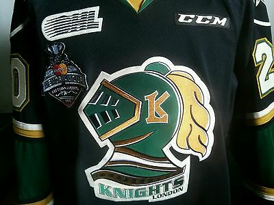London Knights Memorial Cup Game winning worn jersey OHL CHL New York Rangers