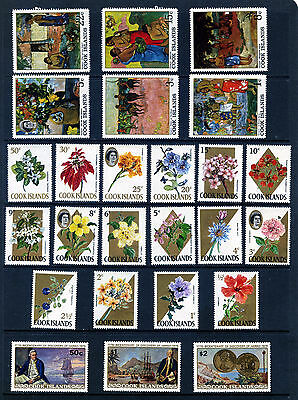 Cook Islands Unmounted Mint Sets 1967 Floral & Polynesian Paintings 1978 Hawaii