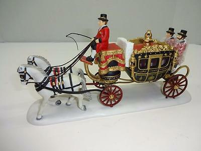 """Department 56 Dickens' Village """"the Queen's Parlimentary Coach""""  #58454 W/box"""