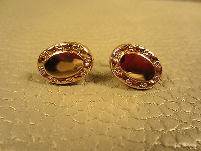 RARE Victorian Dated 1908 Yellow Gold Filled Pivot Closure Cuff Links