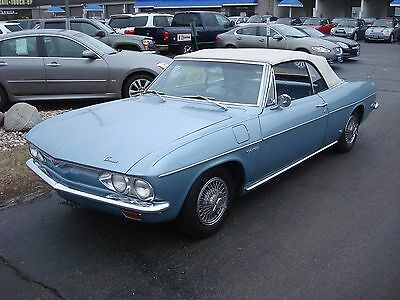 1965 Chevrolet Corvair convertible 1965 Corvair convertible blue nice top corsa turbo 180HP 4 speed driver quality