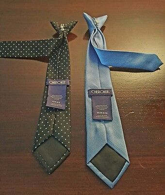 CHEROKEE/TWO CLIP ON TIES/Sz Youth