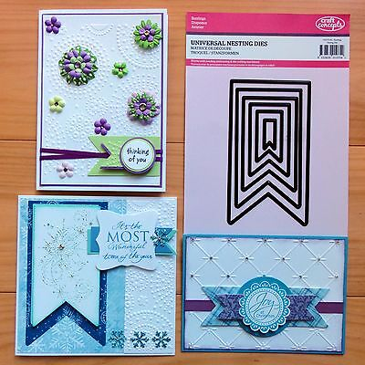 "CRAFT CONCEPTS NESTING DIES Buntings Labels Tag Fishtail Banners ""SPECIAL"" BNIP"