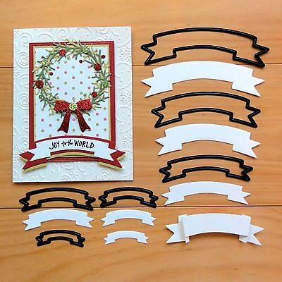 "CRAFT CONCEPTS NESTING DIES Banners Labels Christmas Birthday ""SPECIAL""  BNIP"