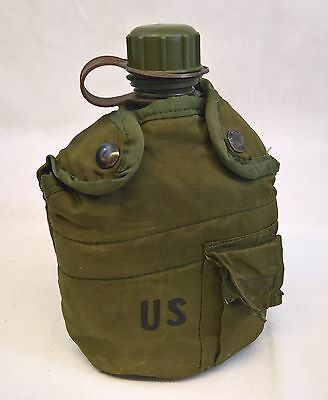 Us Army Water Bottle & Lined Pouch