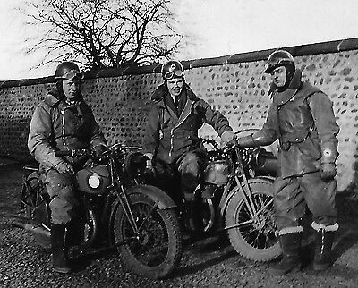 WW2 WWII Canadian motorcyle dispatch riders - snapshot