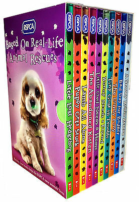 RSPCA Animal Rescue Pets 10 Childrens Books Collection Box Set New