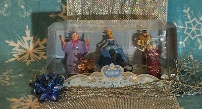 Disney Store Cinderella Figurine Playset Cake Topper- 6 Figures-New in Box