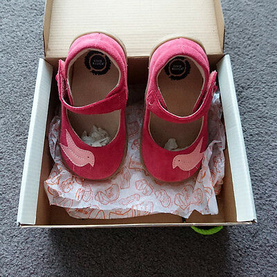 Livie & Luca Pio Pio pink suede leather girls shoes size 9 NEW