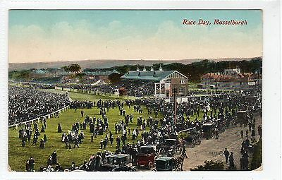 RACE DAY, MUSSELBURGH: East Lothian postcard (C25625)