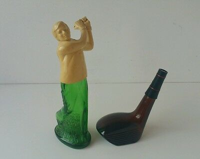 1970's Golf Themed Aftershave Bottles By AVON, Long Drive + Perfect Drive Scents