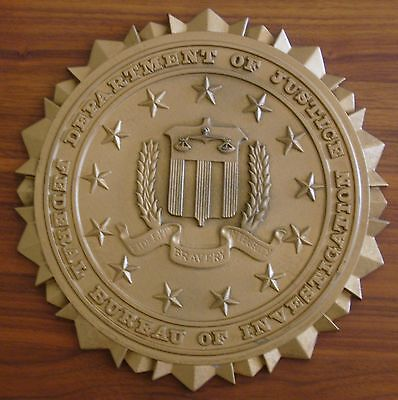 Vintage Authentic FBI Wall Plaque or Podium Plaque Department of Justice