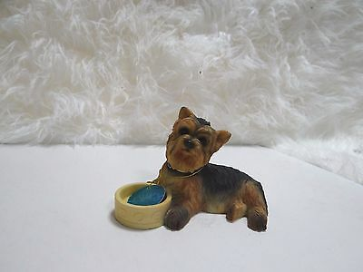 Yorkshire Terrier Dog with Bowl ornament/figurine by Leonardo Collection
