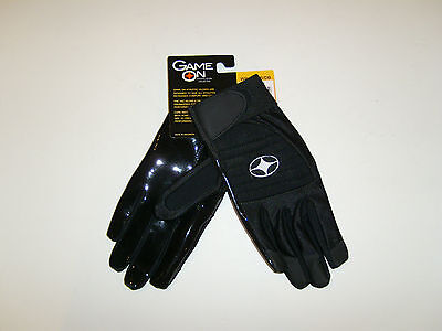 Football Gloves 1 Pair YAC Sieze Control Receiver Gloves by Game On Adult Medium