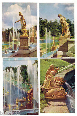 1967 PETRODVORETS set of 11 Russian Photo cards in folder, captions in 4 lang