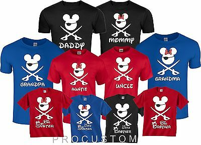 Mom And Dad And Family Mickey Minnie Disney Cruise PIRATE TRIP T-Shirts