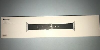 NEW Genuine Apple  Watch Band -  42MM Classic Buckle Black Leather - MMHD2AM/A