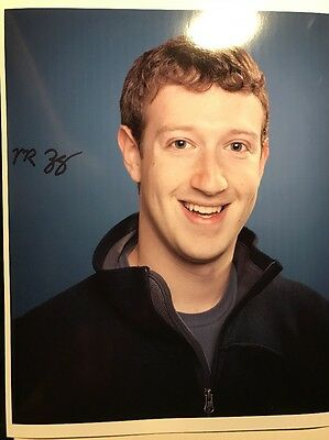 Mark Zuckerberg Autograph