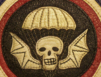 WW2 502nd PIR Officers Leather Patch for A2 Flight Jacket