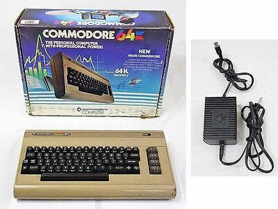 Commodore 64 Home Computer System w/ Box Tested Works But w/ Problems