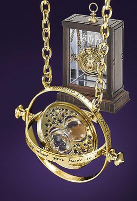 100% Authentic NOBLE COLLECTION Harry Potter Hermione Time Turner & Display Box
