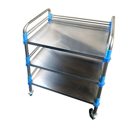 FS945 High Quality Home Stainless Steel Medical Dental Lab Trolley Three Layers