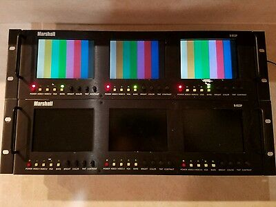 Lot of 2 Marshall V-R53P SDI 3 Screen Video Switch Monitors Monitor