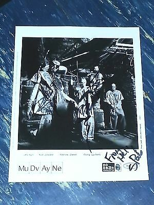 Old School Mudvayne Press Photo Autographed By All 4
